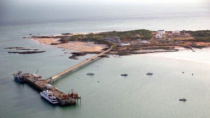 Aerial view of Broome Port