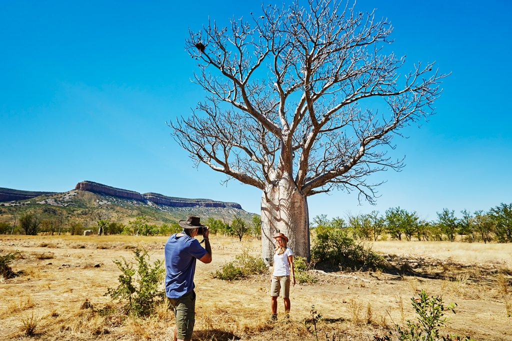 Tourists take a photo in the Kimberley